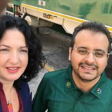 Lisa Chait with Anas Al Hamati who negotiated Yolande's release