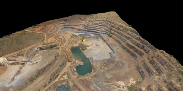 3D View of Quarry