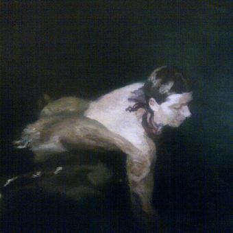 thumbnail for Swimmer as self-portrait, Florisbad III. Oil on wood. 30 x 40cm