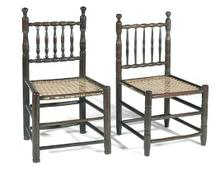 TWO CAPE STINKWOOD TOLLETJIES CHAIRS, LATE 18TH/EARLY 19TH CENTURY