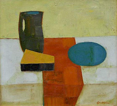 Still life with turquoise plate - SOLD