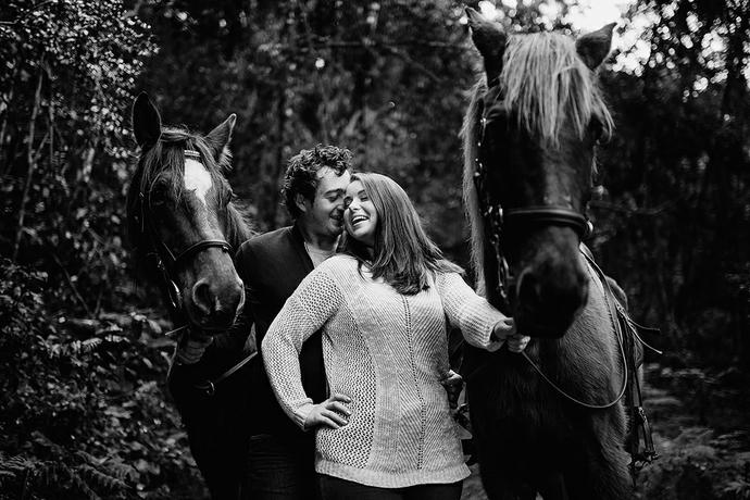 Horse Riding Couple Portrait Shoot - Ryno & Anél