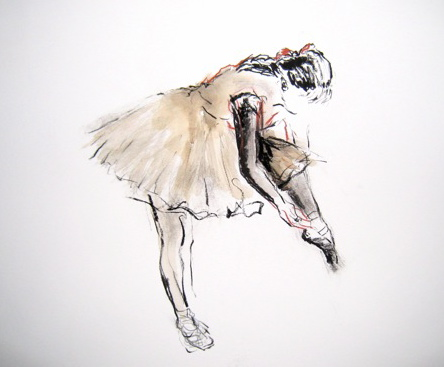 Ballet dancer from the side