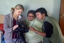 Karen Landsberg (camerawoman), Eunice and Hanne Kotze (director) talk tech