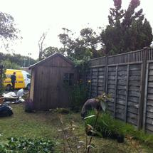 thumbnail for putting in the fencing and garden
