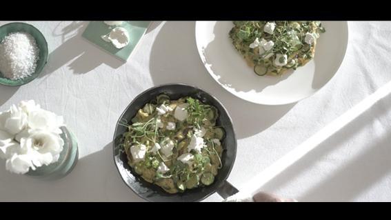 thumbnail for Tashas Pea & Courgette Frittata
