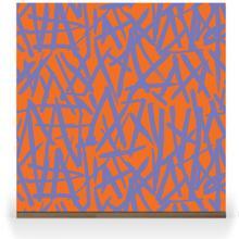 Brush on Colour - Purple on Orange