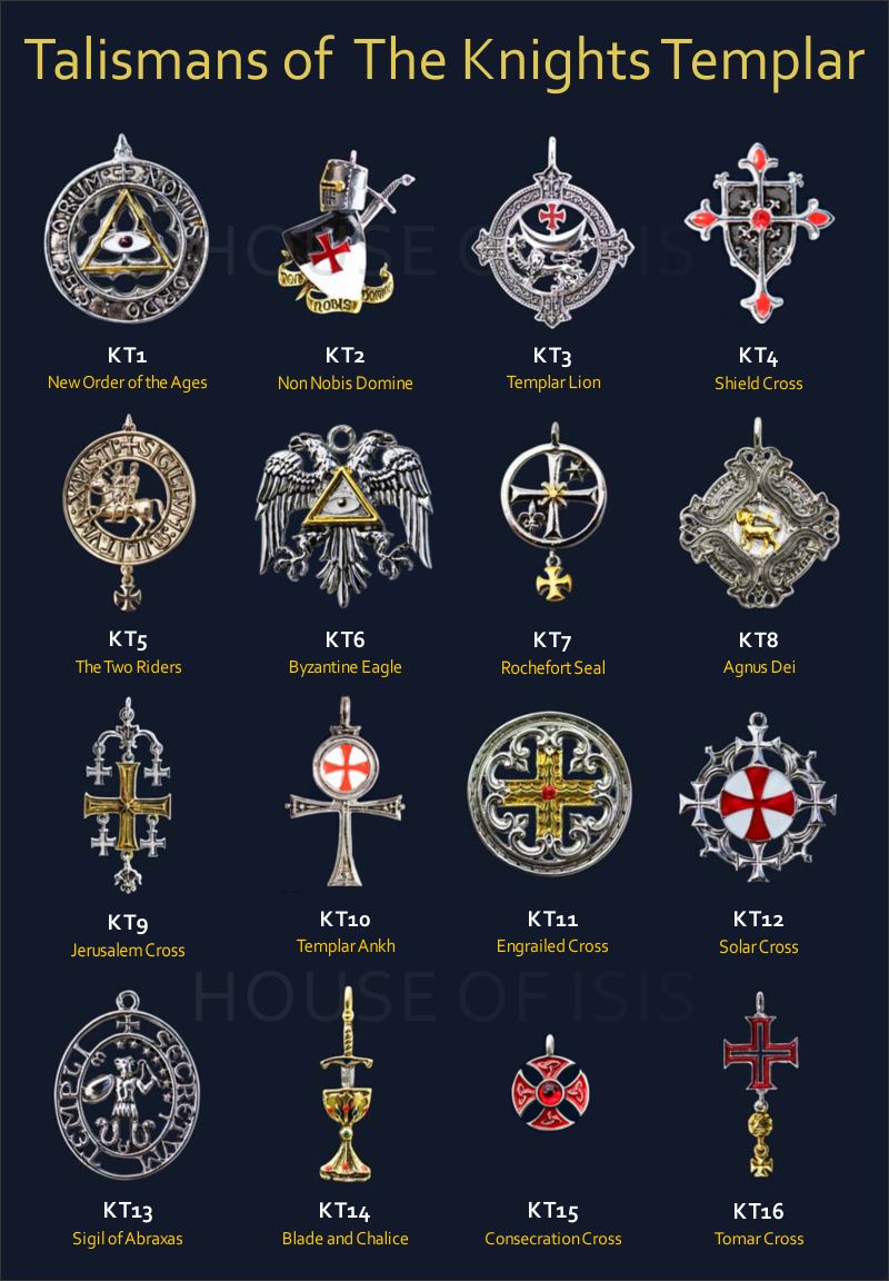 Talismans Of The Knights Templar House Of Isis