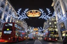 Regent Street re-opens one hour after the Christmas lights are switched on
