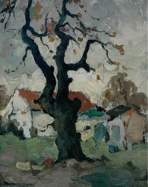 Houses by an oak tree - SOLD