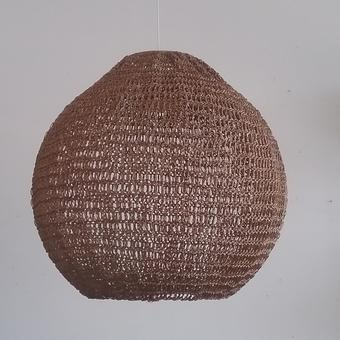 thumbnail for 500 mm diameter resin ball shade in bronze bodhi stitch