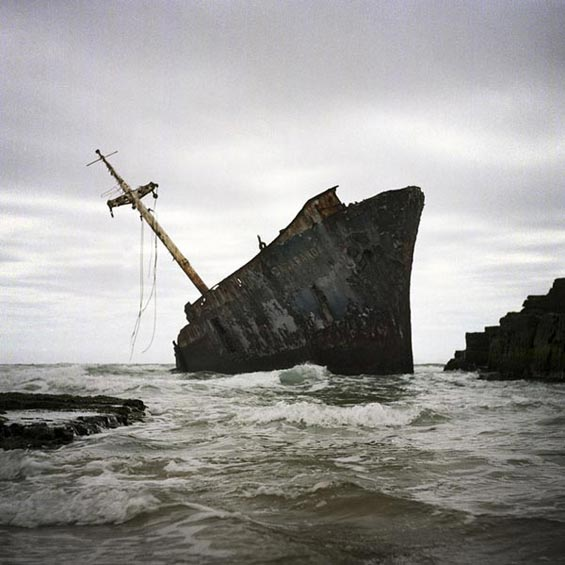 The Jacaranda (ran aground 1971) near Qolora Mouth | Transkei | South Africa