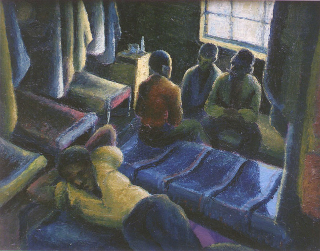 Workers on a Saturday - SOLD
