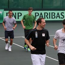 Thumbnail for DAVIS CUP: LUXEMBOURG TEAM ON PRACTICE