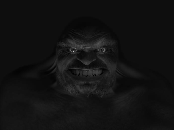 cryptid 1 (Sasquatch)  self-portrait