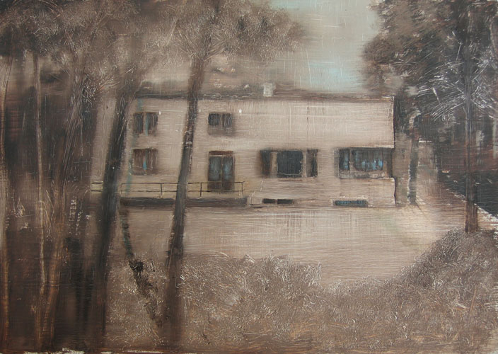 Sepia House, oil on board, 30 x 42 cm, 2006