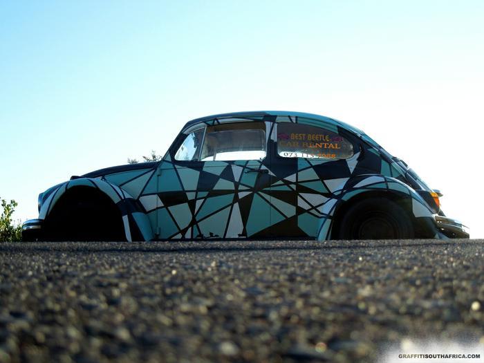 vw Beetle Graffiti Street Art vw Beetle by Miguel