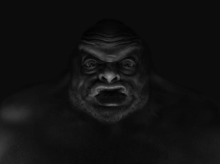 cryptid 2 (Sasquatch)  self-portrait
