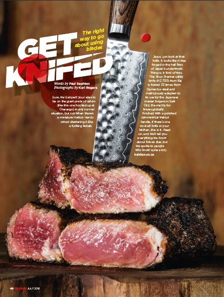 Get Knifed - The Right Way to Go About Using Blades GQ SA July 2016