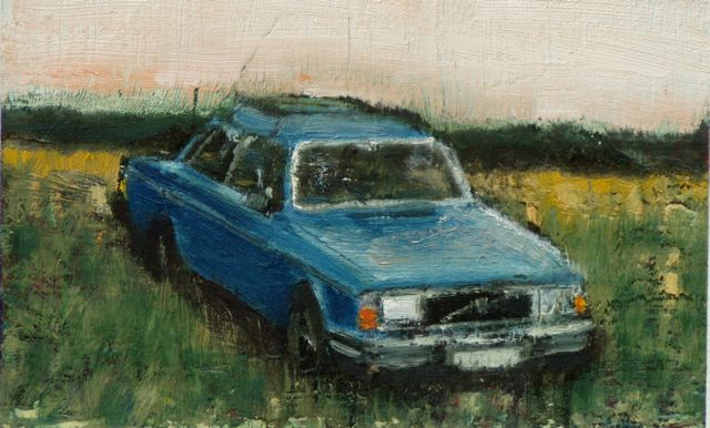 Summer Volvo, Oil on board, 15,5 x 23,5 cm, 2003