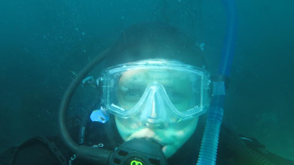 Shameless underwater selfie.