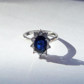 thumbnail for Diamond and Sapphire Ring