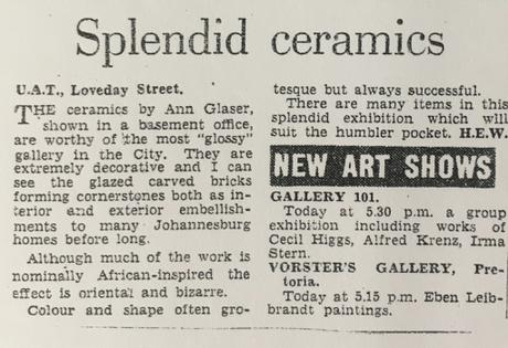 Anne Glaser Newspaper Article
