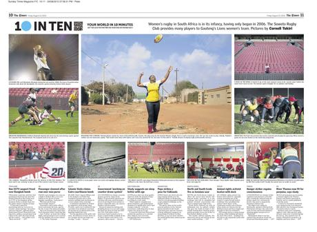 The Times (SA) - 10inTen Playing to Win - Women's Rugby