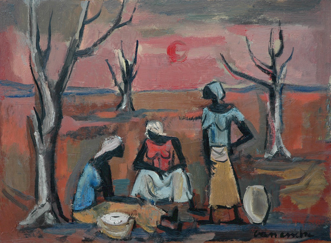 Three women in a landscape - SOLD