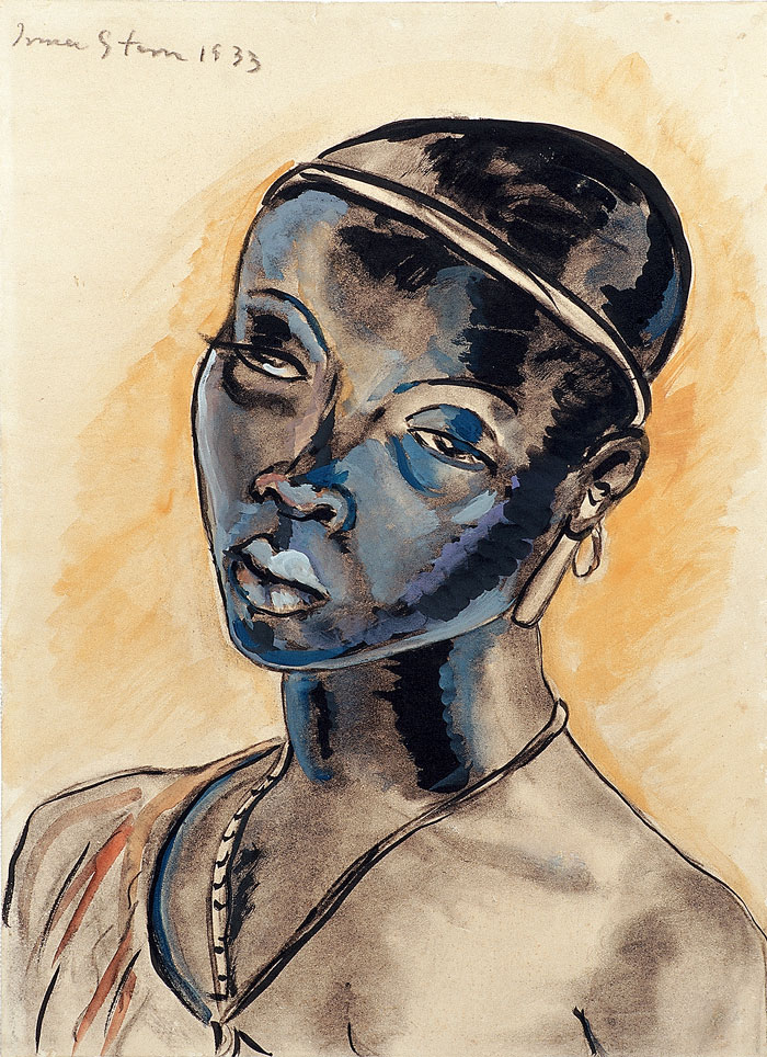 African woman with headband (1933)