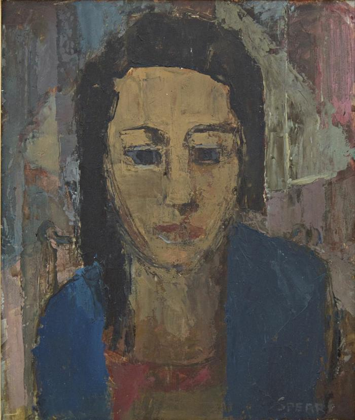 Frank Spears: Portrait of a young woman - SOLD