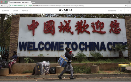 Quartz (US) - Chinese migrants have changed the face of South Africa. Now they're leaving.