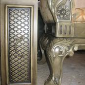 aged chair and drawers