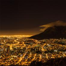 Cape Town at Night Pano