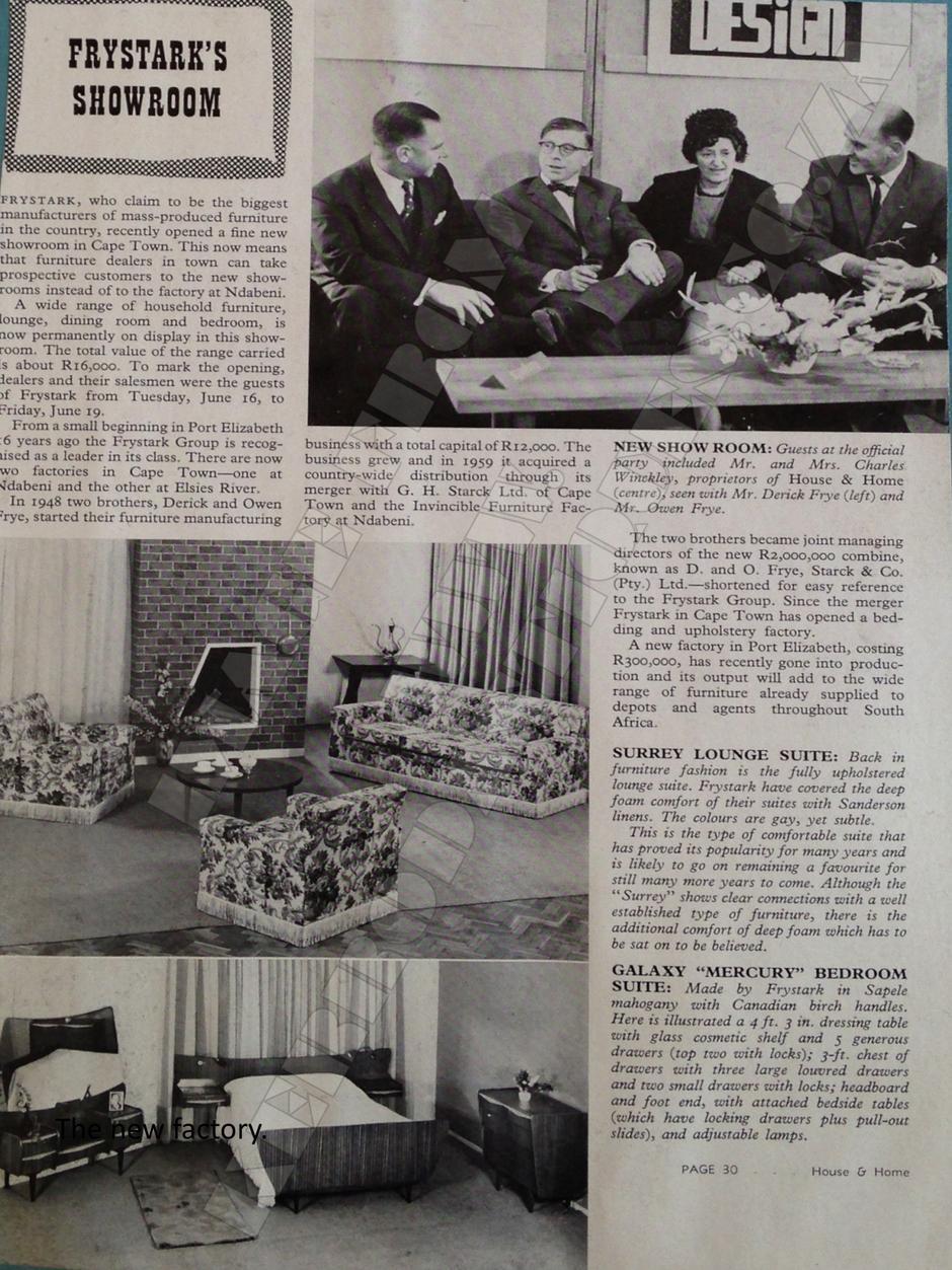 A Little History - Frystark Furniture page 5