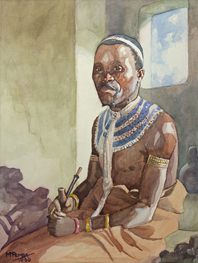 Portrait of a man in traditional dress - SOLD