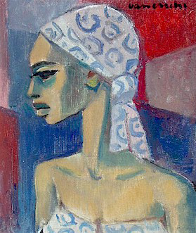 Woman with scarf - SOLD