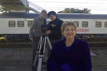 Health Portfolio Manager for the Phelophepa Train Dr Lynette Coetzee about to be interviewed