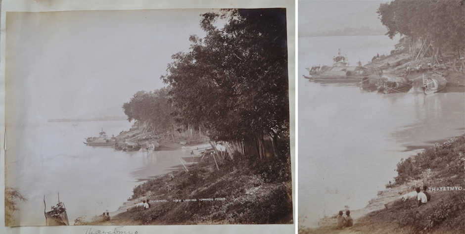 photo of Thatemyo on the Irrawaddy near Prome Burma • late 19th cent