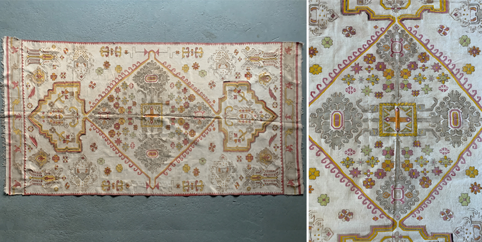 Indian fine Bikaner dhurrie • early 20th cent