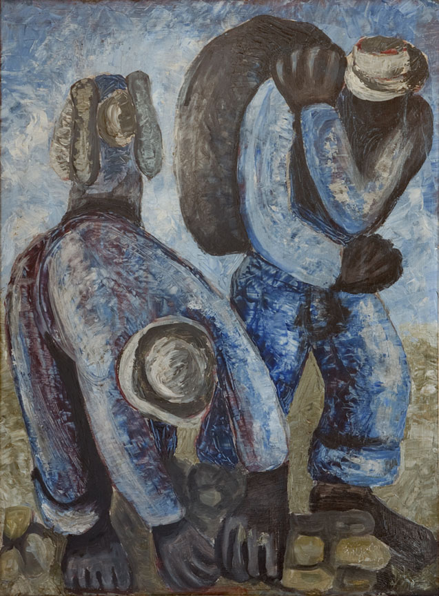 Eric Ngcobo: Three labourers - SOLD