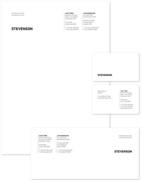 Letterhead, business cards and compliment slips