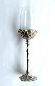 PROTEA STYLE CHAMPAGNE FLUTE| IN GILDED SILVER + RECYCLED GLASS