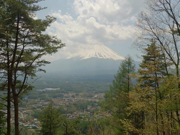 Fuji view from Ashiwada hiking trail