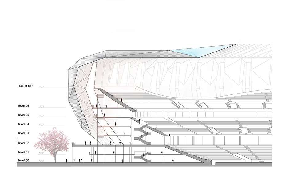 Japan national olympic stadium competition jakupa for News section design