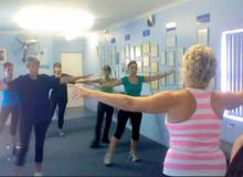 Lynne putting her gym ladies though their paces