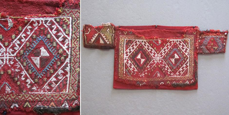 Turkish Anatolian Konya region Obruk cicim kaşiklic spoon bag • 19th cent