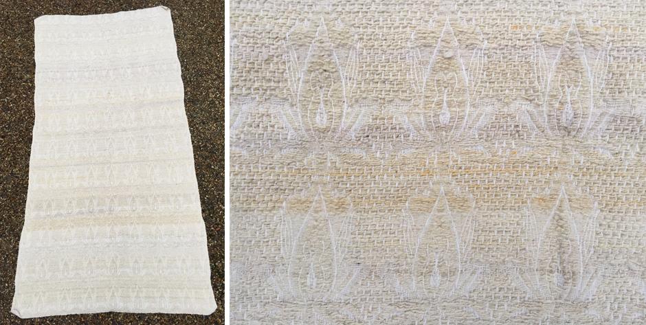 Turkish woolen brocade flatweave covelet