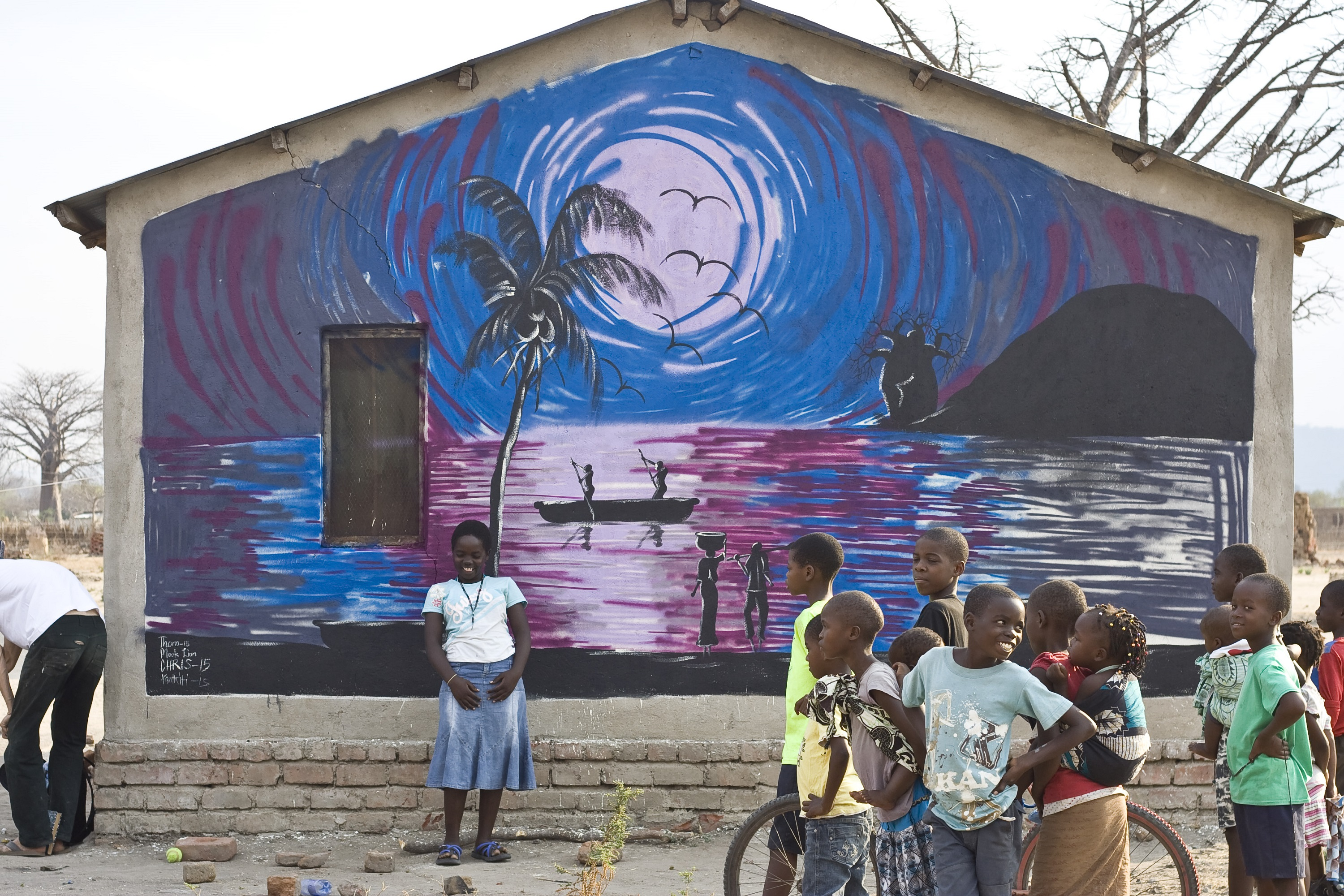 African murals mural art and best free home design for African wall mural