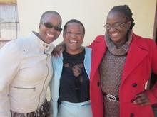 Gethwana with two of her sisters
